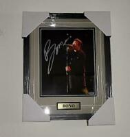 Bono Signed Autographed  Framed 8x10 picture Photo U2 COA  Certified Authentic