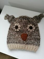 Ladies hat knitted in Owl design Beanie hats