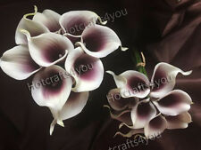 90 Real Touch PU Calla Lily Wedding Bridal Bouquet Latex Flower Decor Wholesale
