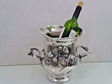 MAGNIFICENT ANTIQUE ART NOUVEAU SILVER WINE COOLER CHAMPAGNE sterling BAR DRINK