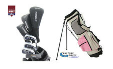 AGXGOLF PETITE LADIES GRAPHITE GOLF SET wPINK BAG +DRIVER+HYBRID+IRONS+PW+PUTTER
