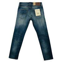 JACK & JONES Homme 'S Mike Icon Confort Coupe Standard Montant Bleu Jean -