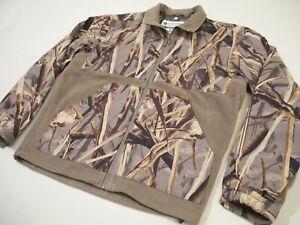 Columbia PHG Interchange DH Marsh Camo Fleece Full Zip Jacket Omni Heat. Large