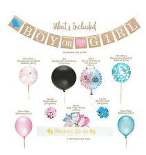 Gender Reveal Party Supplies and Baby Shower Boy or Girl Kit (64 Pieces)