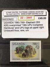 MNH Very Rare UGANDA 1983 700/- 19th UPU HAMBURG OPT UNISSUED