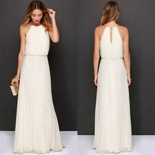Womens Formal Long Chiffon Prom Evening Bridesmaid Wedding Maxi Dress UK 6-20