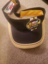 Golf Visor NASCAR CUP SERIES  NEXTEL CAP HAT INAUGURAL SEASON 2004 BEACH YELLOW