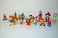 Disney Figurines Lot Of 13 Donald Duck Mickey Mouse Goofy Pluto Aladdin