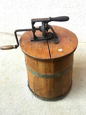 n°1) ancienne baratte en bois / art populaire / déco chalet XIXe