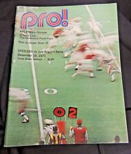 Vintage 1971 Pro Football Magazine Media Guide Team Rosters Steelers Rams Sports