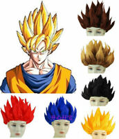 perruques Dragon Ball Z cosplay Saiyan brun perruque de cheveux