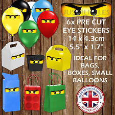 Ninjago Party Decoration Sticker Eyes for Balloons Bags Boxes Favours Gift Plate