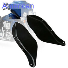 Black ABS Side Air Deflectors Windshield For Harley Touring FLHR FLHT FLHX 96-13