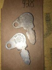 2 Original Genuine Cole 83357 Ignition Key Vintage John Deere Hersee OEM -Lot428