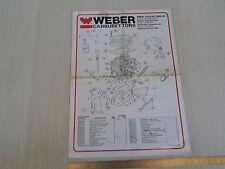 MANUALE ORIGINALE WEBER CARBURATORE 1980-83 REGOLAZIONI BMW 316 518 DMTL