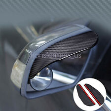 Two Piece Carbon Fiber Black Mirror Rain Visor Guard For Honda Models
