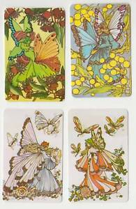 C14 swap cards fulls set of butterfly fairies .C1980's blank back