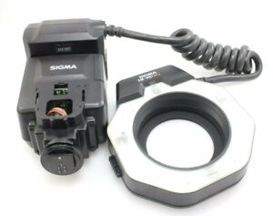 Sigma Ring Flash EM-140DG-ETTL II & 62mm Adapter - Canon Fit - Spares or Repair