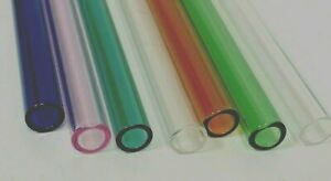 COLOR 10mm  x 1.5 mm thickness  (7-OD) Glass Blowing Tube Pyrex