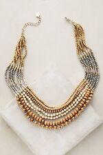 New Anthropologie Waiheke Necklace, Mixed wood Prelayers