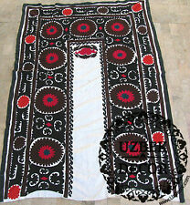 UZBEK SILK HAND EMBROIDERED SUZANI JOYPYSH # 8474