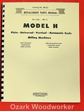 Kearney Amp Trecker Milwaukee Model H Milling Machines Part Manual 0419
