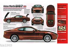 1996/1997 ASTON MARTIN DB7/DB-7 Spec Blatt/Broschüre/Katalog