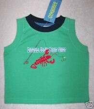 NWT Gymboree 3-6 mo SALT WASHED Green LOBSTER Tank Top
