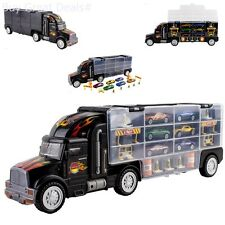 Transport Semi Truck Matchbox Car Carrier Truck Toy Boys Large 18 Wheeler Gift