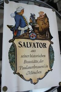 Reklameplakat Paulaner SALVATOR MÜNCHEN 40/50er Jahre