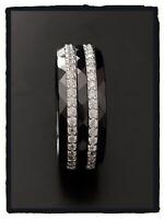 Bague Taille 52 Alliance Céramique rangs ZIRCONIUM Argent 925/1000 Bijoux