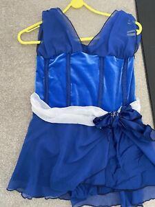 Blue Velvet girls ice skating dress Approx Size 9-10