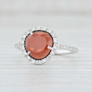 New Pomellato Colpo Di Fulmine Ring in Box Red Garnet Diamond 18k Gold Size 5.5