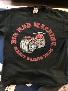 Hells Angels Support Men's, T-Shirt , 81, Big Red Machine Vintage Medium