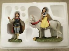 Disney WDCC Snow White on Horse & Prince Charming Figurines Figures Set