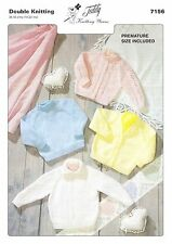 7156  Baby Double Knitting pattern for Sweaters & Cardigans incl premature size