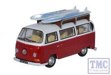 76VW024 Oxford Diecast OO Gauge VW Bay Window Bus/Surfboards Montana Red/White