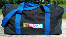 NASCAR Black Blue Duffle Bag Tote Very Durable Quality Bag Handles