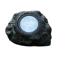 4LED Solar Simulation Stone Lamp Outdoor Waterproof Garden Landscape Light US
