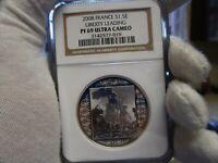 2008 France - Japan 125th Anniversary Silver 1.5 Euro Leading Liberty NGC PF69