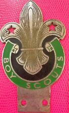 More details for genuine old  vintage car mascot badge : early boy scouts enamel z