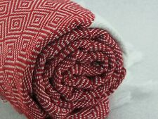 Diamond Turkish Towel / Peshtemal / Beach Towel / Gym Towel 100% Cotton/