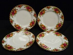 Royal Albert Old Country Roses Salad Dessert Plates x 4