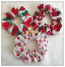 Red Hair Scrunchies Hairband Tie Elastic Band Strawberry Fabric School Uniform
