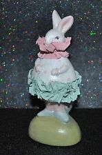 NEW BUNNY RABBIT KING w//CROWN FIGURINE EASTER DECOR Glittered Vintage Style