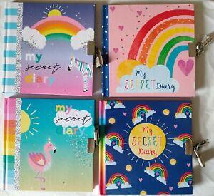 Secret Lock Diary For Boys/Girls - FLAMINGO/RAINBOW/BLUE/PINK Kids Love Writing