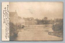 Cornell Grist Mill STANBRIDGE EAST Quebec RPPC Rare Antique Photo CPA 1907
