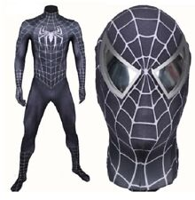 Spiderman 2 Black Replica, Mask, Cosplay, Lycra 3d Printed