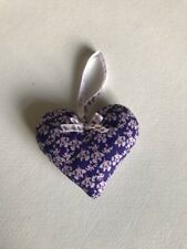 Vintage retro Heart Hanger Made With Kirstie Alsop Floral Pattern Cotton Fabric