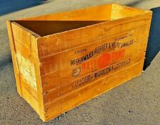 Antique Mishawaka Ball Band Rubber & Woolen Footwear Large Wooden Crate 34x19x14